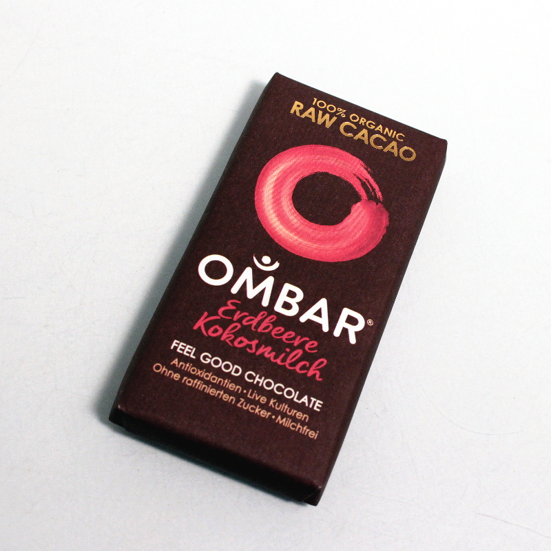 Ombar Strawberries & Cream, Bio, Roh 35g