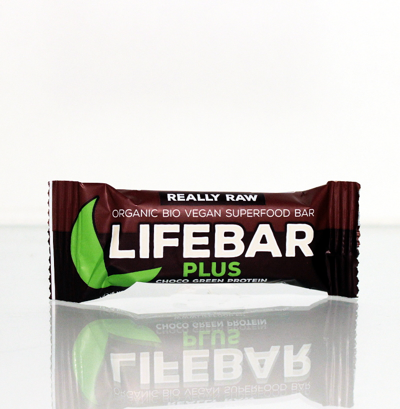 Lifebar Plus Choco Green-Protein Bio, Roh 47g