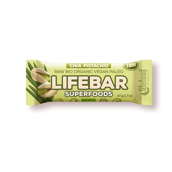 Lifebar Superfood Chia-Pistachio, 47 g