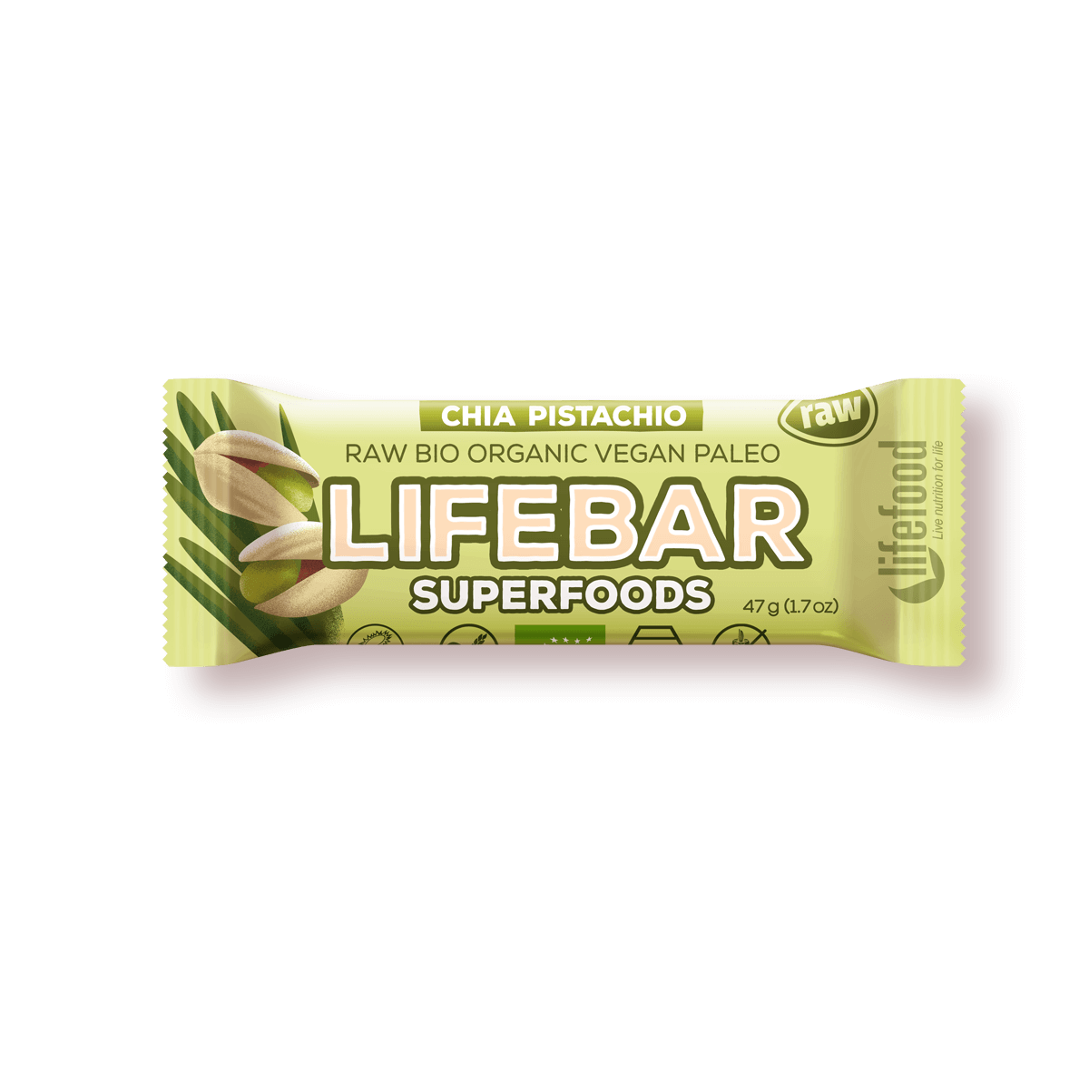 Lifebar Superfood Chia-Pistachio, 47 g Image