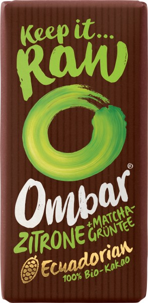 Ombar Green Tea & Lemon, Bio, Roh 35g